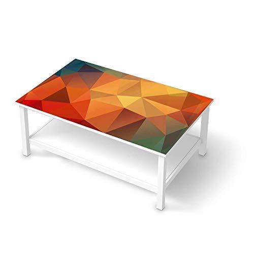 creatisto Möbel-Tattoo passend für IKEA Hemnes Couchtisch 118x75 cm I Möbelsticker - Möbel-Sticker Aufkleber Folie I Innendekoration für Esszimmer, Wohnzimmer - Design: Polygon