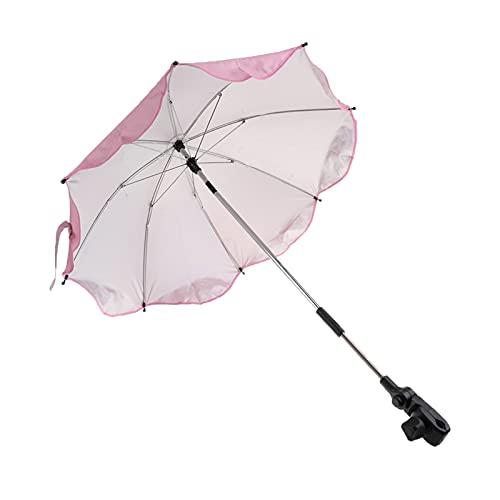 Verano Al Aire Libre Playa Sombrilla Sombrilla Protección Sol Parasol (Color : Pink)