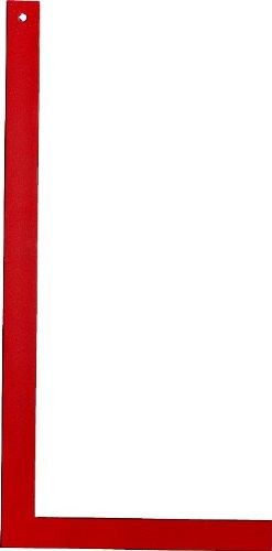 Metrica 29356 ESCUADRA Carpintero ROJA 600 mm, Rojo