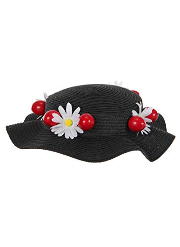 Disney Mary Poppins Classic Black Costume Hat for Adults and Teens