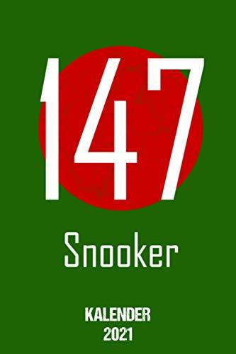 Snooker Kalender 2021: Terminplaner 2021 A5 Tagesplaner Geschenk für Snookerspieler Jahreskalender 2021 1 Woche 2 Seiten / 6x9 Zoll 120 Seiten / Terminplaner 2021 klein für Snookerfan