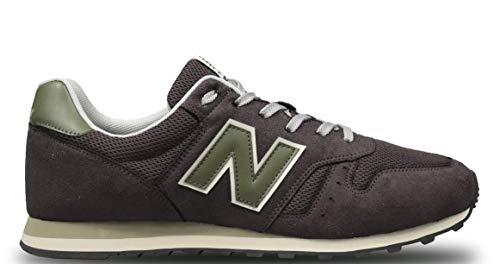 Tênis New Balance 373, Masculino, Marrom/Verde, 39