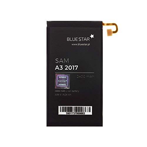 Bluestar Akku Ersatz kompatibel mit Samsung Galaxy A3 2017 A320F 2400mAh 3,8V Li-lon Austausch Batterie Accu EB-BA320ABE