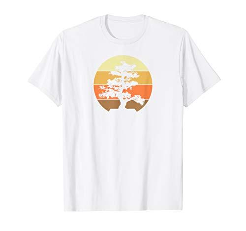 Pacific Ocean Beach Bonsai Tree Sun Retro Vintage T-Shirt T-Shirt