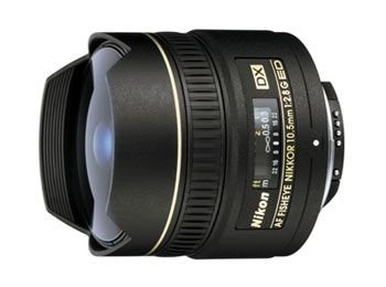 Nikon AF DX NIKKOR 10.5mm f/2.8G ED Fixed Zoom Fisheye Lens with Auto Focus for Nikon DSLR Cameras