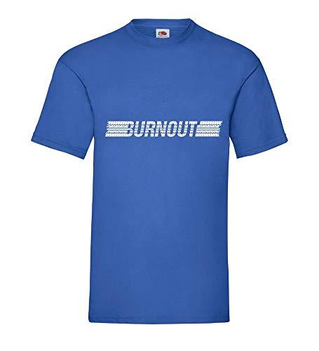 Reifen Burnout Männer T-Shirt Royal Blau 3XL - shirt84.de