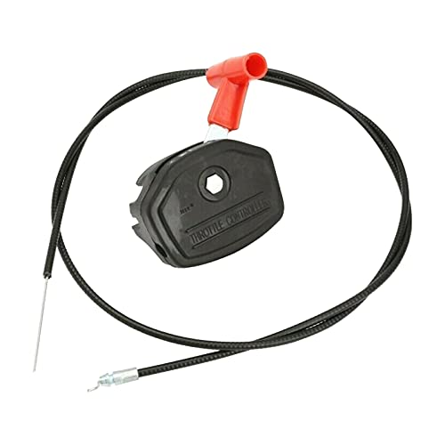 CJHZQYY Universal 56 Zoll Rasenmäher Gaszug Schalter Steuerschalter Garten Maschine Armatur Gaszug Hebel Griff Kit für Elektrobenzin Rasenmäher
