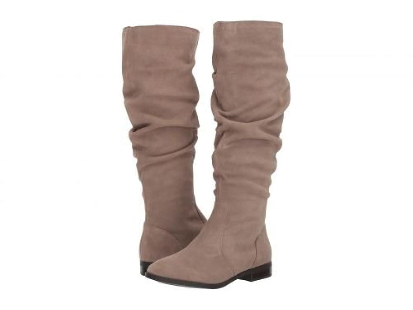 辞書きれいに熟練したSteve Madden(スティーブマデン) レディース 女性用 シューズ 靴 ブーツ ロングブーツ Beacon Slouch Boot - Taupe Suede 7.5 M [並行輸入品]