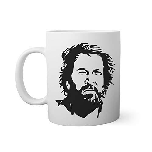 Bud Spencer Bulldozer Mucke Weißer Becher Mug | Lustige Neuheit Tassen für Kaffee Tee 312ml