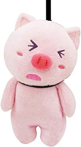FXBFAG Llavero de cerdo de peluche con forma de muñeca de cerdo rosa con adornos de cerdo lindo colgante de panda bolso de coche Packpack colgante decoración, 4.7 pulgadas A