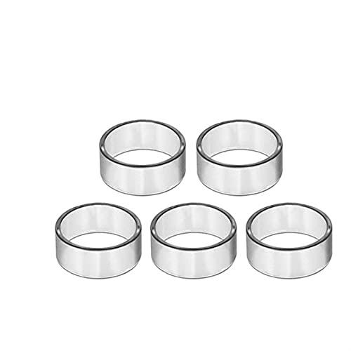 Denghui-ec 5 unids de Vidrio en Forma para Eleaf Ello T TS Pico 25 Kit Fit para Ello Vate Fit para Duro Pop S Ajuste para Mini XL Pyrex Glass Pipe Tank (Color : Fit for ELLO T 2ml)