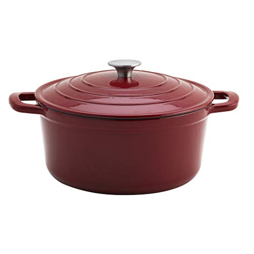 Cookware Collection- Enameled Cast Iron Covered Dutch Oven, 6 Quart Dutch Oven