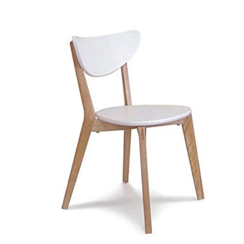 LHQ-HQ Silla de Comedor Silla de Oficina Simple Comedor Silla de Estilo nórdico de Madera Adecuado for sillas Cafetería Restaurante Balcón de Cocina (Color: Blanco, Tamaño: 49x47x80cm)