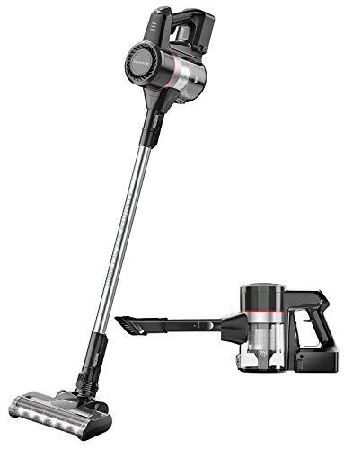 Cordless Vacuum Cleaner, Elechomes 20Kpa Powerful Suction 2 in 1 Stick Vacuum, Lightweight & Ultra-Quiet Handheld Vacuum for Carpet Hard Floor Pet Hair Car, Detachable Battery