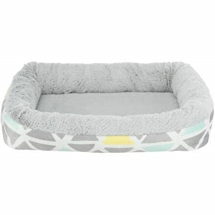 Cama de peluche suave Trixie para roedores, 30 x 6 x 22 cm, color/gris, cama, capullos, almohadillas, túneles de tela