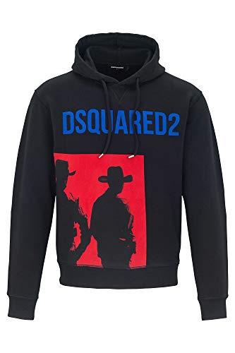 Dsquared2 Herren Kapuzenpullover Kapuzensweatshirt Kapuzen Schwarz EU XL (UK XL) S71GU0253S25305900