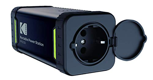 Kodak PPS100 Portable Power Station mit 84Wh Lithium-Ionen-Akku, mobiler AC/DC Steckdose, 1x USB-C, 1x USB Qualcomm Quick Charge Port