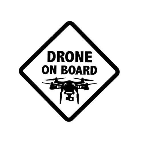 PAOPD Confezione di Adesivi per Auto 14,6 cm * 14,6 cm Drone ON Board Decalcomanie Impermeabili per Adesivi per paraurti per Laptop per Auto e Moto