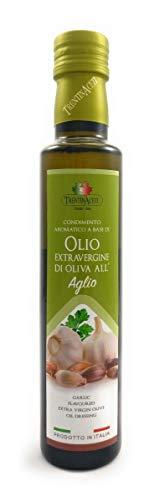 Extra Natives Olivenöl mit natürlichen Knoblaucharoma - 1x250 ml - Italienisches Knoblauch Olivenöl in höchster Qualität - TrentinAceti - kaltgepresst