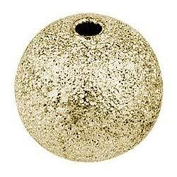 Perlen, diamantiert | zum Auffädeln, Basteln, Herstellen von DIY-Schmuck, wie Armbänder, Ketten, UVM. (Gold | Ø 6mm | 150 Stück)