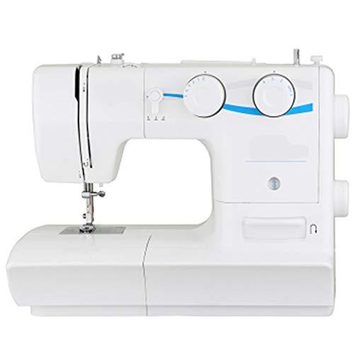 DLSMB Elektrische Naaimachine Zware Duty Naaimachine Huishoudelijke Automatische Naalddraaier Perfect voor het naaien van alle soorten stoffen met gemak Wit voor beginners en volwassenen