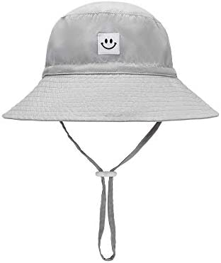 Baby Sun Hat Smile Face Toddler UPF 50 Sun Protective Bucket hat Nice Beach hat for Baby Girl product image