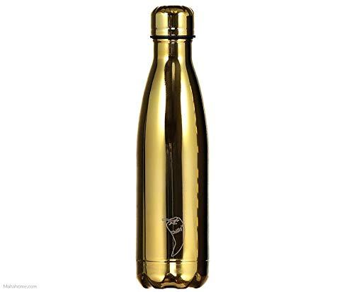 Chillys Bottles - Bottiglia riutilizzabile, a parete doppia, Argento, 500 ml