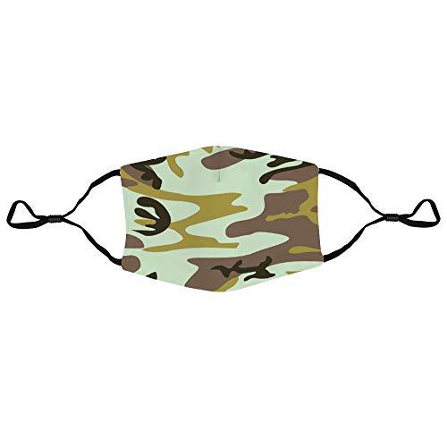 Dkisee Unisex-Gesichtsmaske, Militär-Uniform, Staubschutz, verstellbare Ohrschlaufen, Outdoor-Schutzmaske