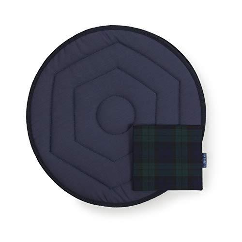 Blue Badge Co Removable Rotating Swivel Car Seat Cushion Parking Permit Cover, Blackwatch, Medium, Navy Colour