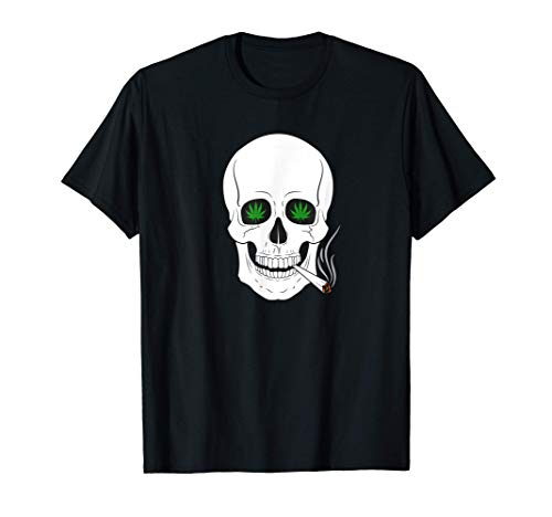 Marihuana Cannabis Weed Leaf Skull Camiseta