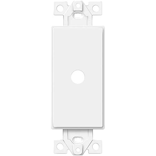 """ENERLITES 0.406"""" Rotary Dimmer Shaft Adapter Insert for Decorator Wall Plates, 1-Gang Polycarbonate Thermoplastic, UL Listed, 6061-W, White"""