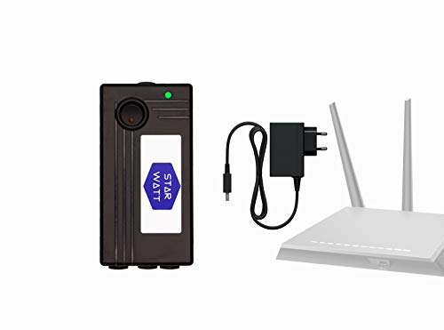 STARWATT 3 Output WiFI Router UPS for 5V / 9V / 12V WiFi Router Uninterrupted Power Backup for All Brand of Wi-Fi Router / Broadband Modem Set Top Box with 2 hours Power Backup with Wall Mount and 12V Adaptor