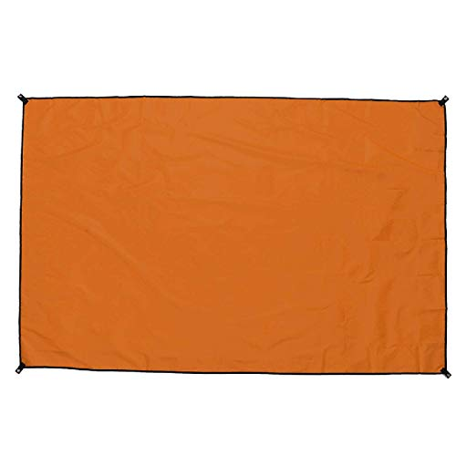 Jtoony Toldo de 210 x 150 cm para acampar al aire libre, toldo impermeable para la lluvia (tamaño: 210 x 150 cm; color: naranja)