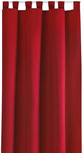Bestlivings Blickdichte Gardine mit Schlaufen (140x245 cm/Rot), in vielen Variationen