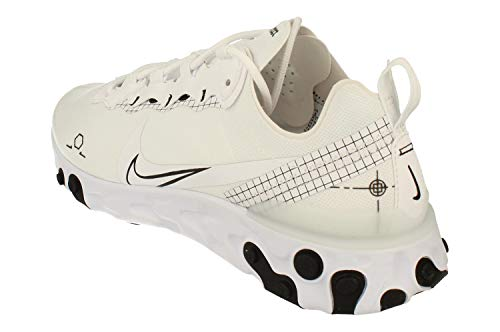 Nike React Element 55, Zapatillas para Correr Hombre, White/Black, 41 EU