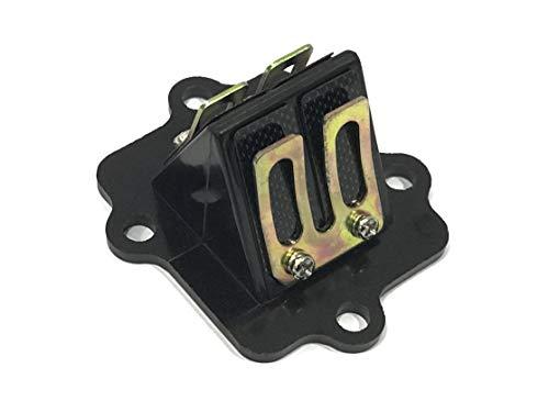 SS - Caja Láminas de admisión de Carbono Motor Minarelli Horizontal 50 c.c, Yamaha Jog, Aerox, Beta ARK