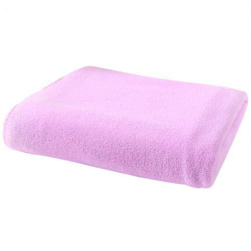 Mdsfe Toalla de Microfibra de Secado rápido Algodón Suave Lavado de Autos Toallas secas Cocina Toallas absorbentes limpias Color sólido Toallas de Secado rápido - Rosa Oscuro