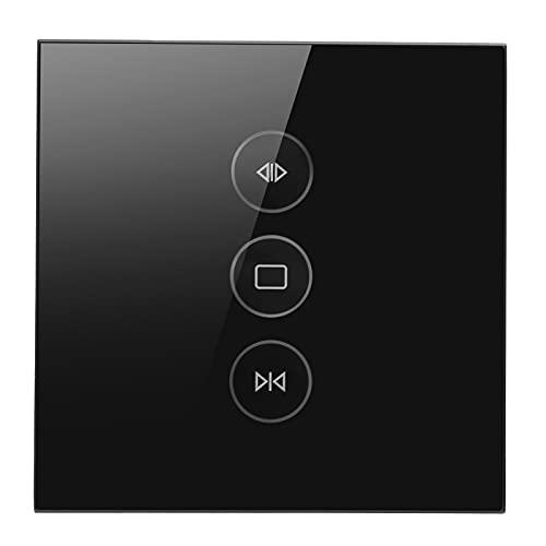 Control De Cortina WiFi, Interruptor De Cortina Wifi Enchufe De La UE 110-240V Para Para Apartamento De Oficina En Casa(negro)