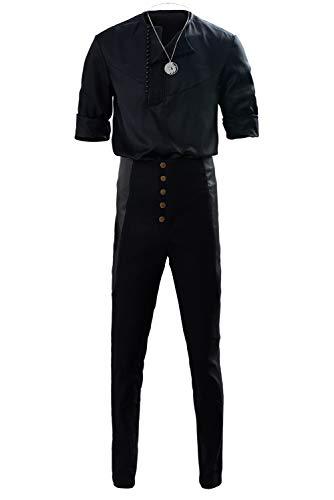 Bilicos Witcher Geralt of Rivia Casual Wear Traje de Cosplay Disfraz Hombres Caballeros XXL