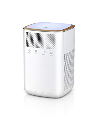 Air Purifier, VALKIA Air Purifier for Home and Pets with True 3M-HEPA, Activated Carbon Filter, LED Night Light, Sleep Mode, Touch Button, Ultra Quiet Air Purifier for Bedroom, Baby's Room, Office