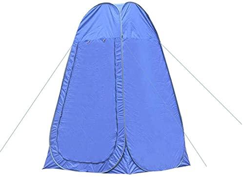 Carpa para ducha, carpa para inodoro para acampar, ducha emergente, privacidad, cambiador para exteriores, vestuario, carpas para sala de almacenamiento, transporte portátil-blue_47.2 x 47.2 x 74.8inc