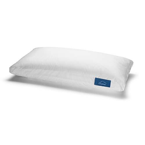 Genius eazzzy Kopfkissen 40x80 cm - orthopädisches Schlafkissen für den ruhigen Schlaf aus Milchfaser mit Aloe Vera - Allergikergeeignet stützend Oeko-TEX Nacken-Stützkissen, weiß, A19202
