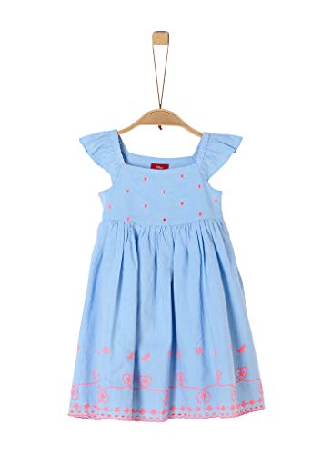s.Oliver RED LABEL Mädchen Chambray-Kleid mit Lochstickerei light blue embroidery 104.REG