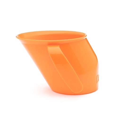 Doidy Cup Tacitas de aprendizaje abiertas para nenes y bebés – Diseño oblicuo único - Vaso para bebé de dos asas – Taza genial para el destete para leche, agua y zumos Uso desde 3-6 meses hasta niños (Naranja)