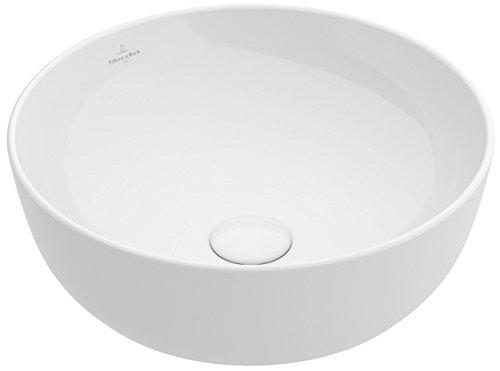Villeroy&Boch Aufsatzwaschtisch Artis 4179 430x430mm, D:430mm o HLbank o ÜL Rund Stone White CeramicPlus
