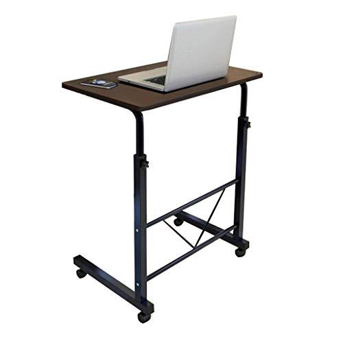 GY Laptop Stand Tafel, Verstelbare Lift Staande Bureau, Draagbare Mobiele Slaapbank Bank Houten Pallet Studie De Zijtafel, 3 Kleuren, 70-88cm