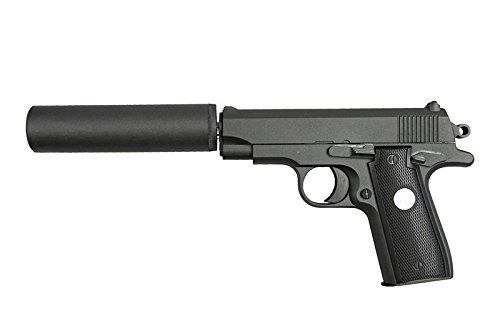 Galaxy - Pistola para Airsoft, Modelo G.2A, con Resorte y Culata de Metal, 0,5 Julios, Color Negro, Recarga Manual