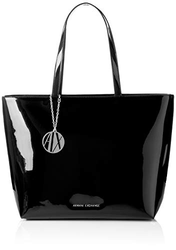 Armani Exchange Damen Womans Shopping Tote, Schwarz (Black), 29x12x43 cm