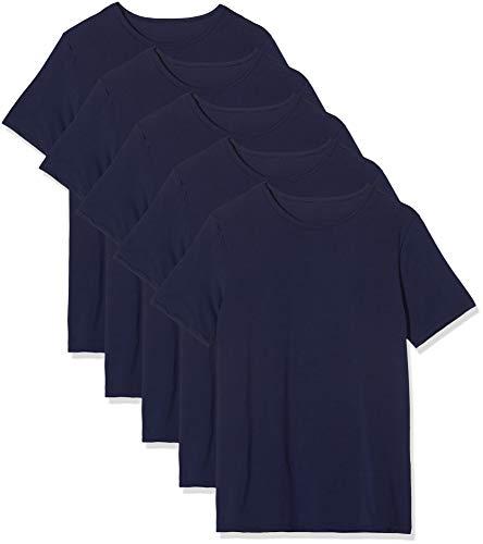 Amazon-Marke: find. Herren Shorts aus Baumwolle, 5er-Pack, Blau (Navy), L