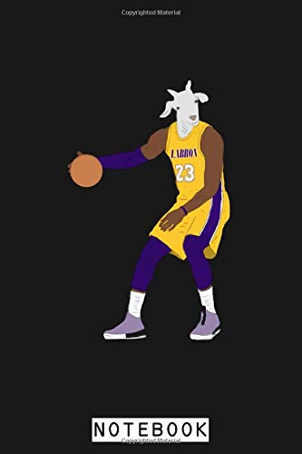 Lebron James The Goat (lakers) Notebook: Diary, Planner, Journal, 6x9 120 Pages, Lined College Ruled Paper, Matte Finish Cover
